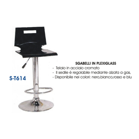 sgabello in plexiglass in offerta